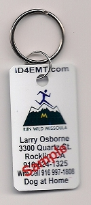 Run Wild Missoula ID Tag with split metal ring