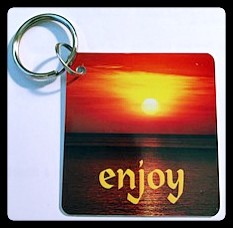 "ENJOY SUNSET 2"" X 2"""