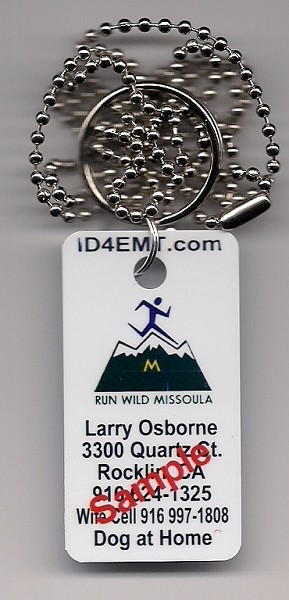 Run Wild Missoula ID Tag with Neck Chain (COPY)